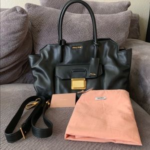 Miu Miu Vitello Soft 2 Way Tote